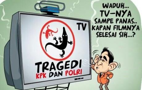 Gambar kartun dan meme kpk vs polri, cicak vs buaya jilid 2, dan #